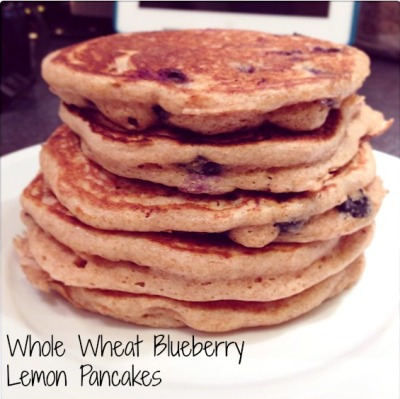 whole wheat blueberry lemon pancakes