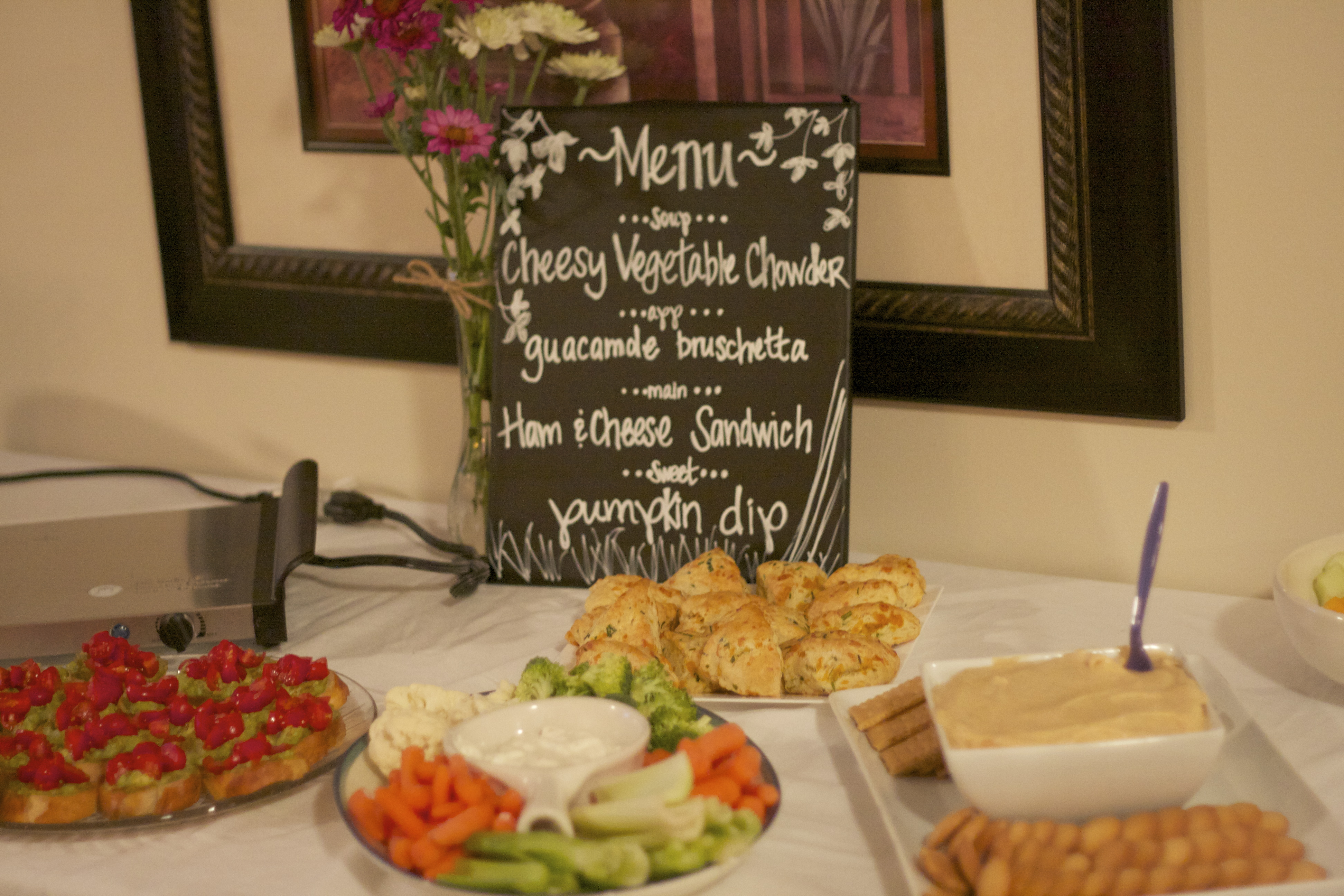 Chalkboard Menu Baby Shower