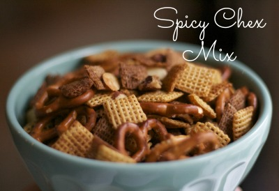 spicy homemade chex mix