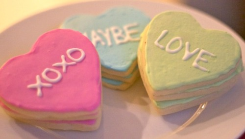 valentines conversation heart cookies