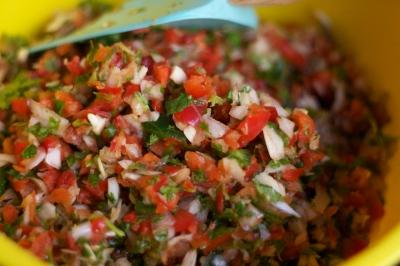 crab salsa bowl