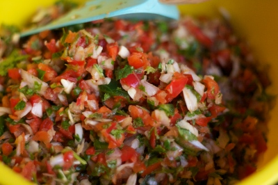 crab salsa bowl