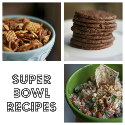 super bowl chex mix nutella cookies crab dip