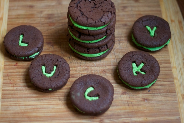 homemade oreos, St. Patrick's Day Oreos, baking, dessert, holiday