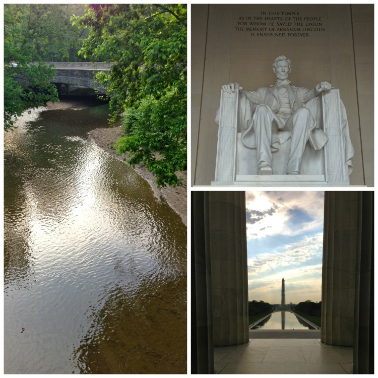 washington DC, lincoln memorial, rock creek trail