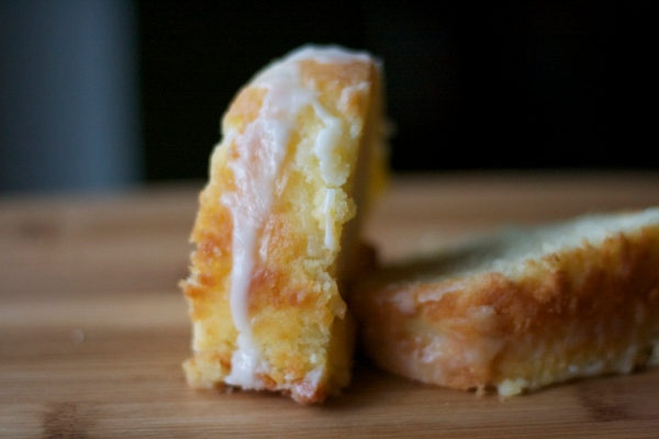 lemon pound cake slice