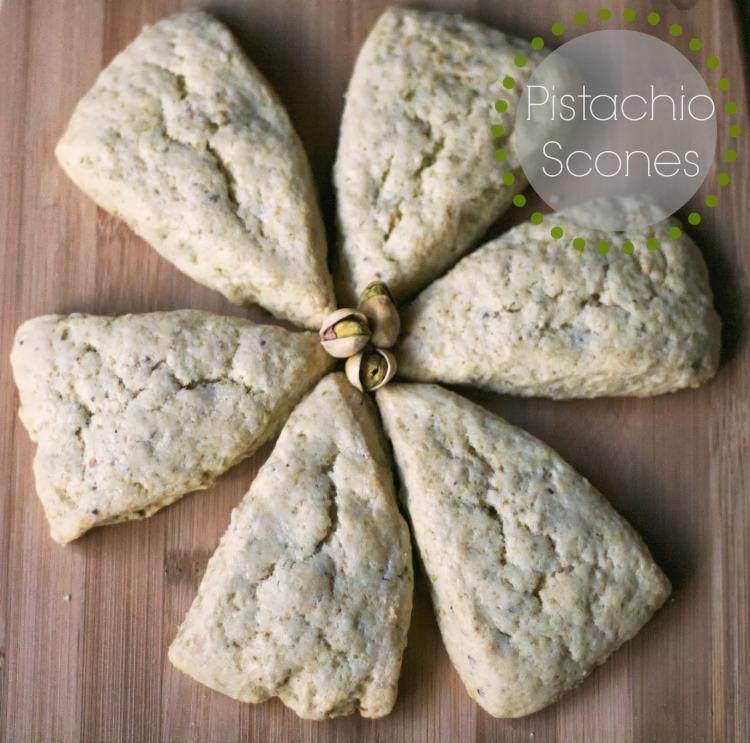 pistachio scones