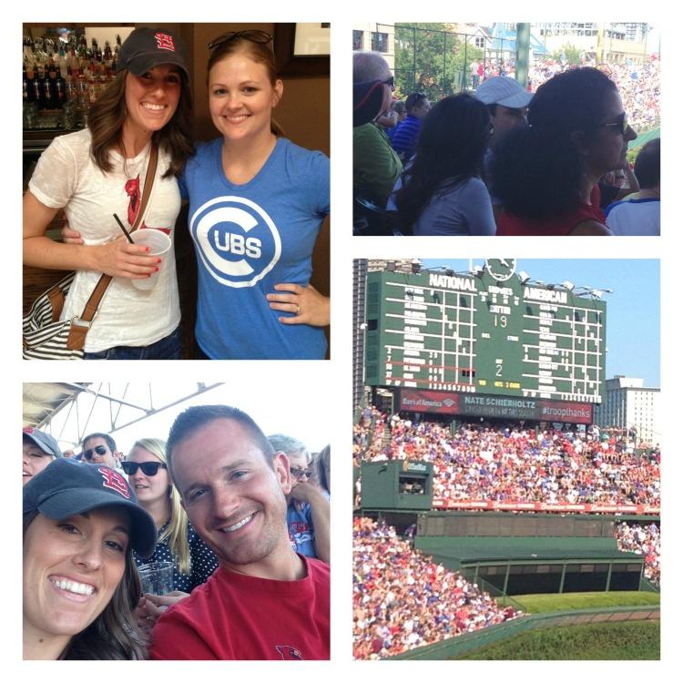 cubs cardinals baseball wrigley field chicago