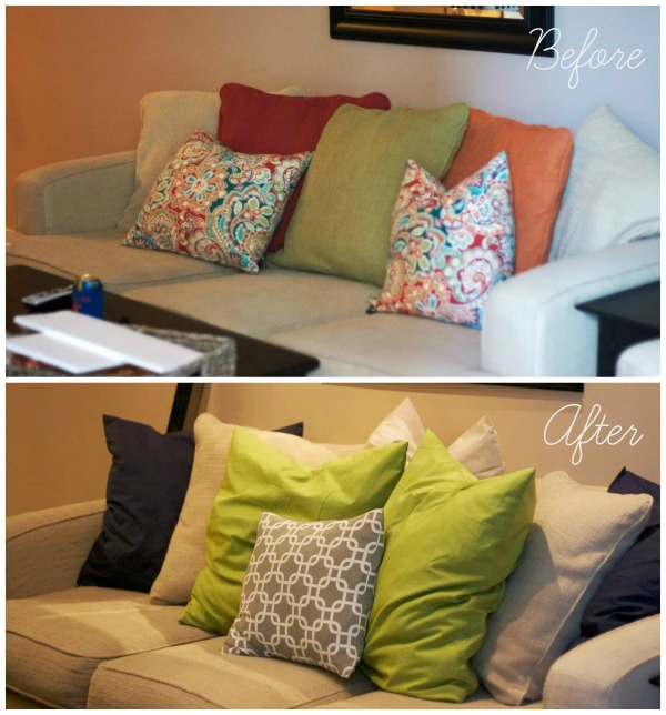 couch redo ikea pillows simply social blog