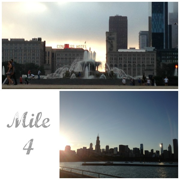 chicago running tour lakefront path lake michigan buckingham fountain skyline