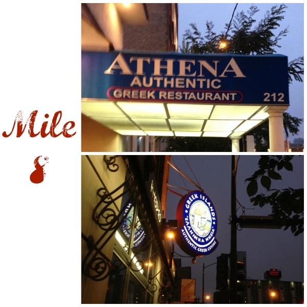 chicago running tour greektown athena greek islands