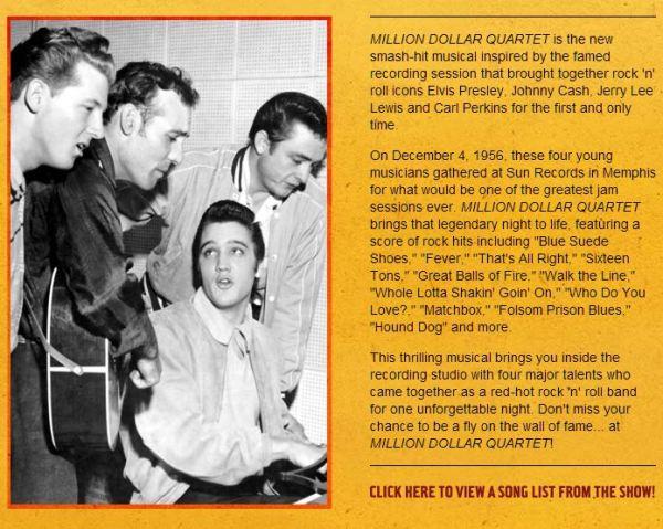Million Dollar Quartet Chicago Illinois Apollo Theater