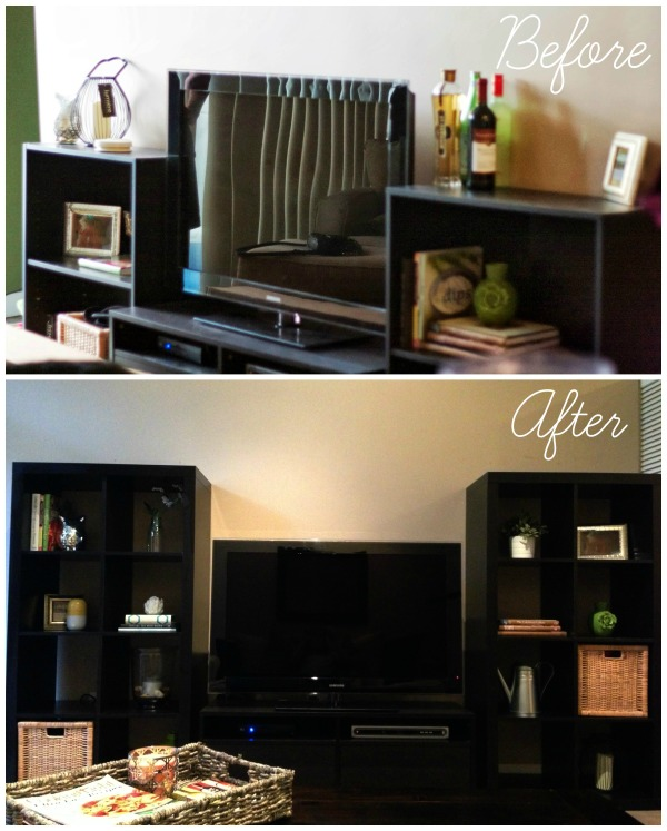 ikea bookshelf before and after simply social blog