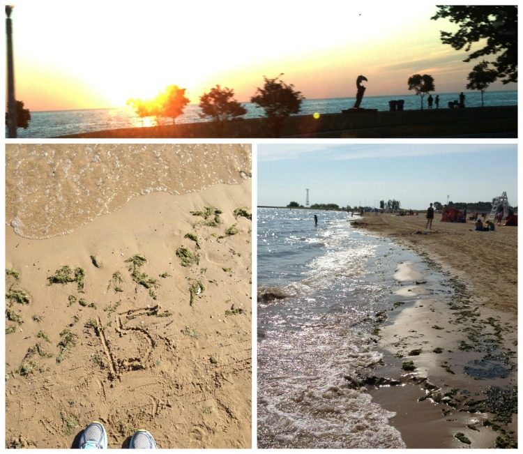 sunrise lake michigan chicago running