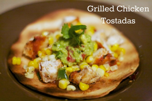 grilled chicken tostadas guacamole and salsa