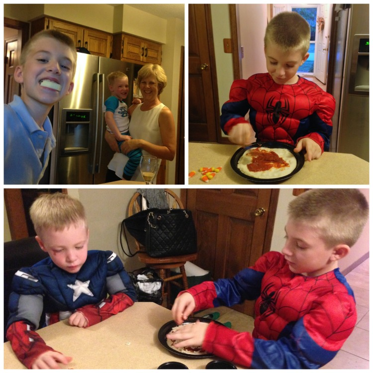 owen and jake spiderman captain america costume halloween boys