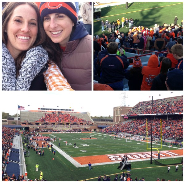 Illinois football game, champaign illinois, illini, simply social blog