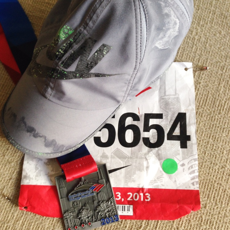 chicago marathon finisher medal and bib simply social blog