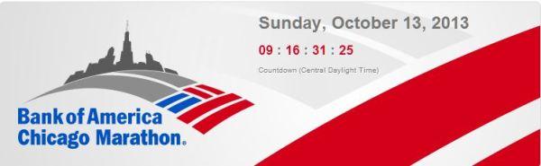 bank of america chicago marathon countdown clock