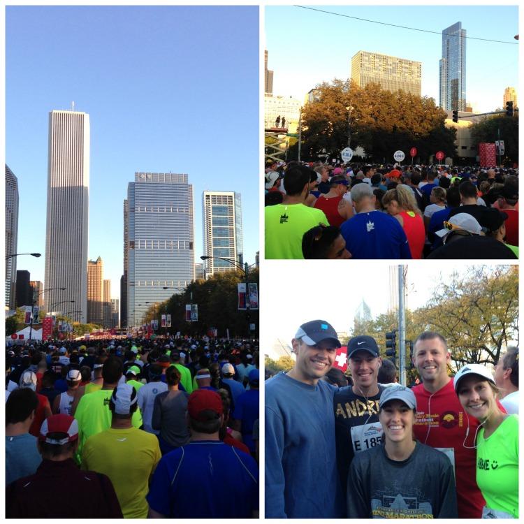 chicago marathon starting line simply social blog
