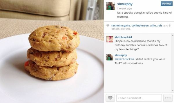 pumpkin toffee chocolate chip cookies instagram simply social blog