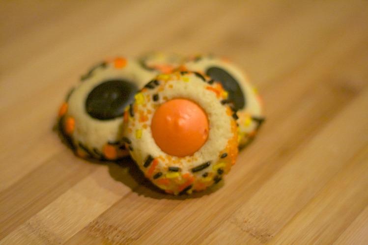halloween thumbprint cookies, simply social blog