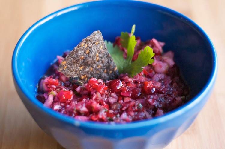 holiday cranberry salsa, cranberry relish, thanksgiving, christmas appetizers, cranberry side dish