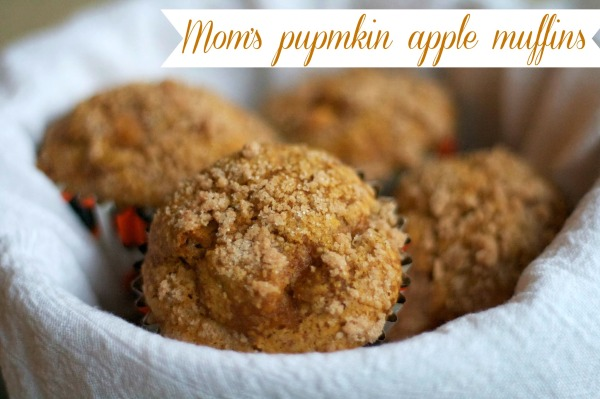 pumpkin apple muffins with streusel topping, simply social blog
