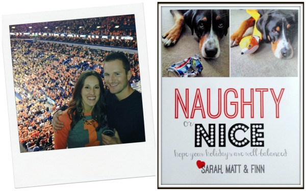 christmas card design naughty or nice with puppy simply social blog