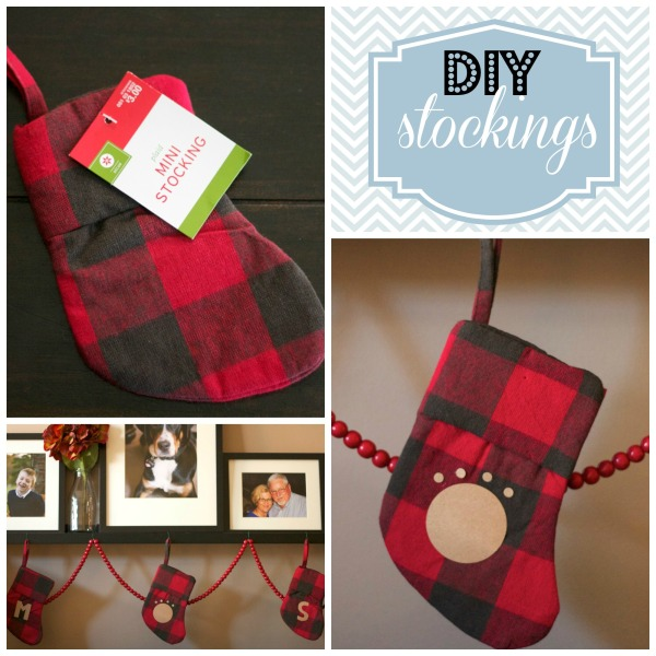 DIY mini stockings, Target, plaid DIY stockings