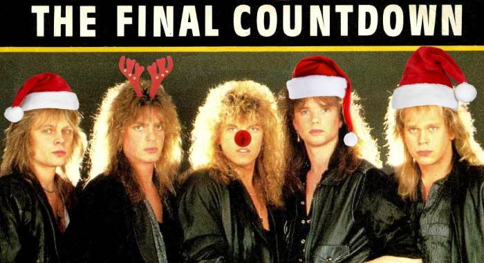 final countdown santa hats