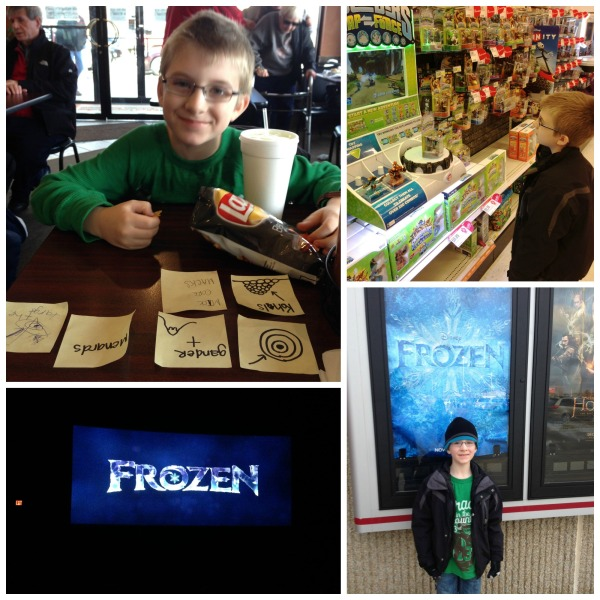 scavenger hunt, nephew, frozen movie date, disney's frozen