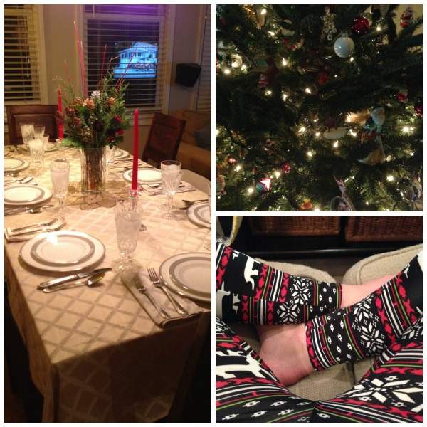Christmas tablescape,christmas leggings, Christmas tree