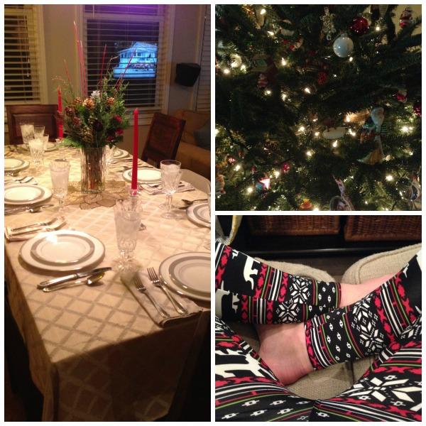 Christmas tablescape,christmas leggings, Christmas tree