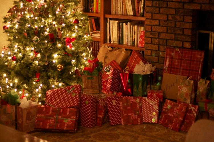 christmas tree christmas presents simply social blog