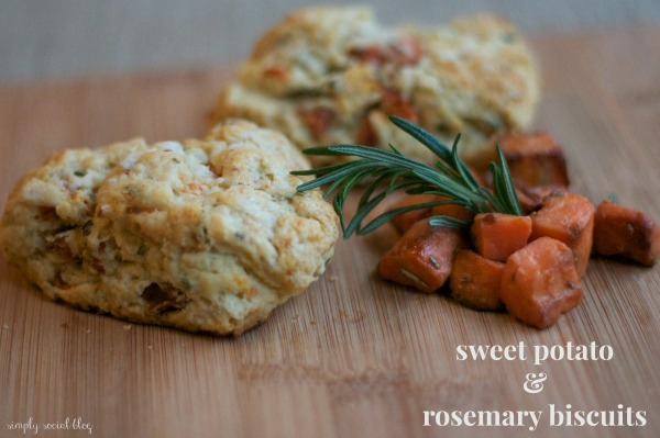 sweet potato rosemary biscuits, savory scones, holiday recipes