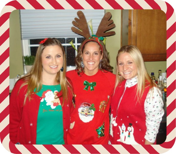 ugly sweater party, simply social blog, reindeer antlers