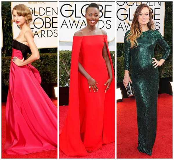 golden globe dresses, taylor swift, olivia wilde, Lupita Nyong'o, best dressed, simply social blog