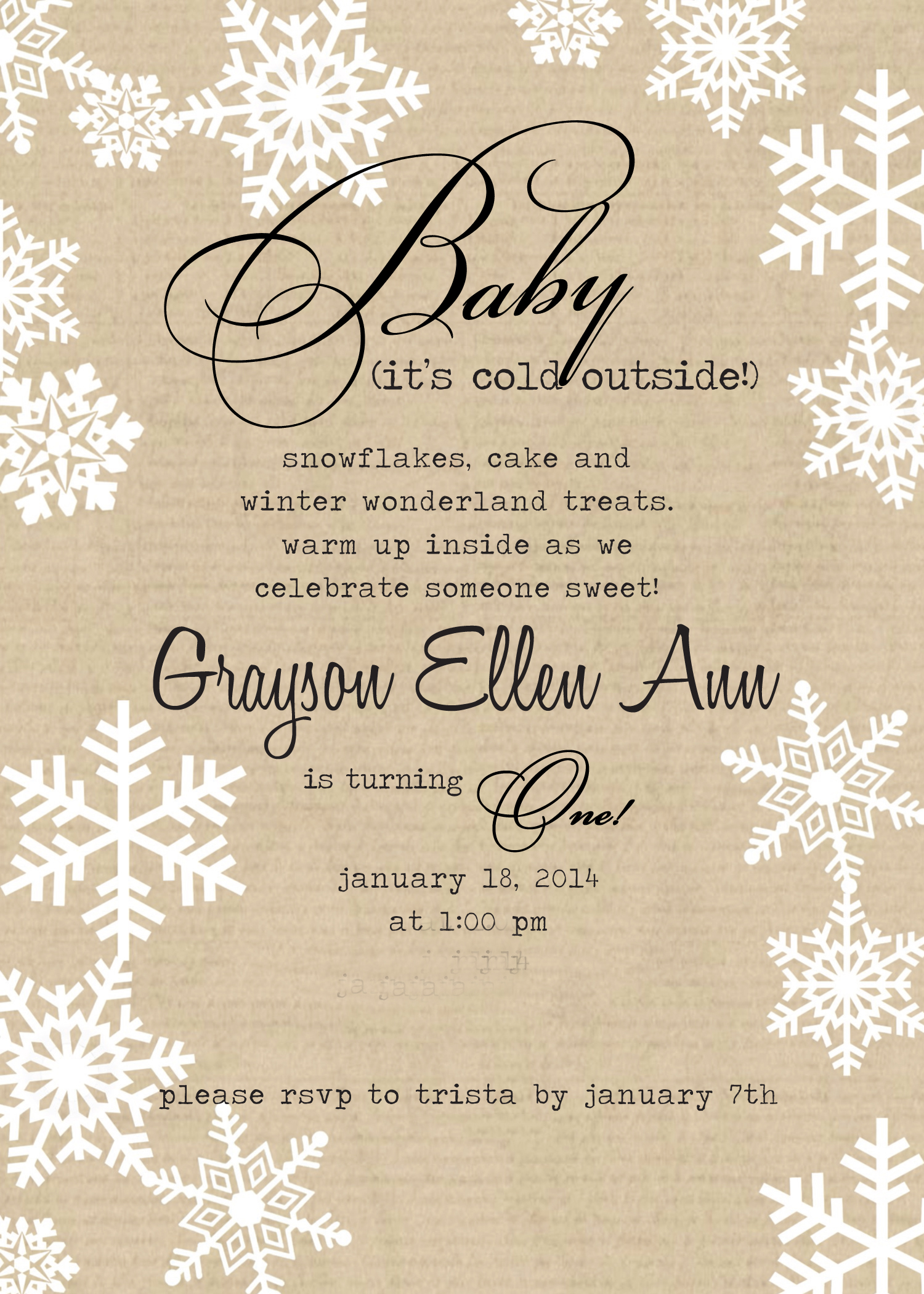 baby it's cold outside theme   simply social blog, Baby shower invitations