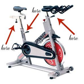 spin bike adjustments, 15 minute spin bike workout, simply social blog