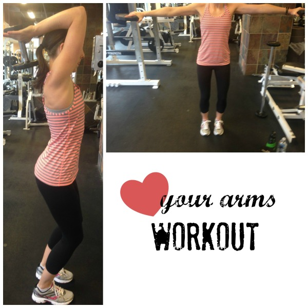 love your arms, arm workout, easy arm workout, lateral lifts, tricep curls, simply social blog, workout wednesday