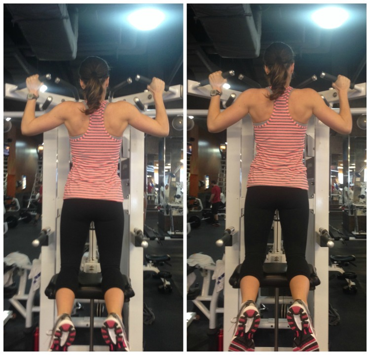 love your arms, arm workout, easy arm workout, assisted chin ups, simply social blog, workout wednesday