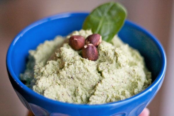 spinach artichoke hazelnut dip, spinach artichoke pesto, dip recipes, party recipes
