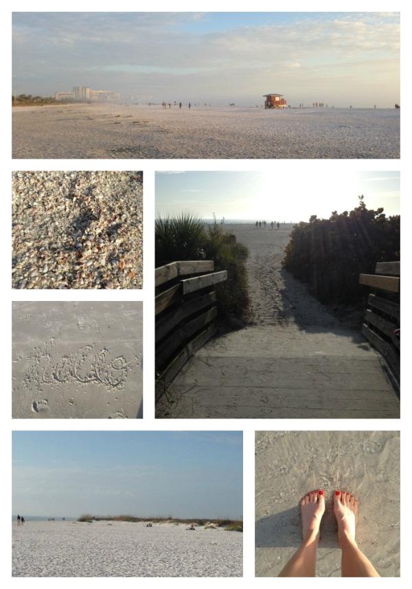 lido beach, sarasota florida, winter vacation, simply social blog