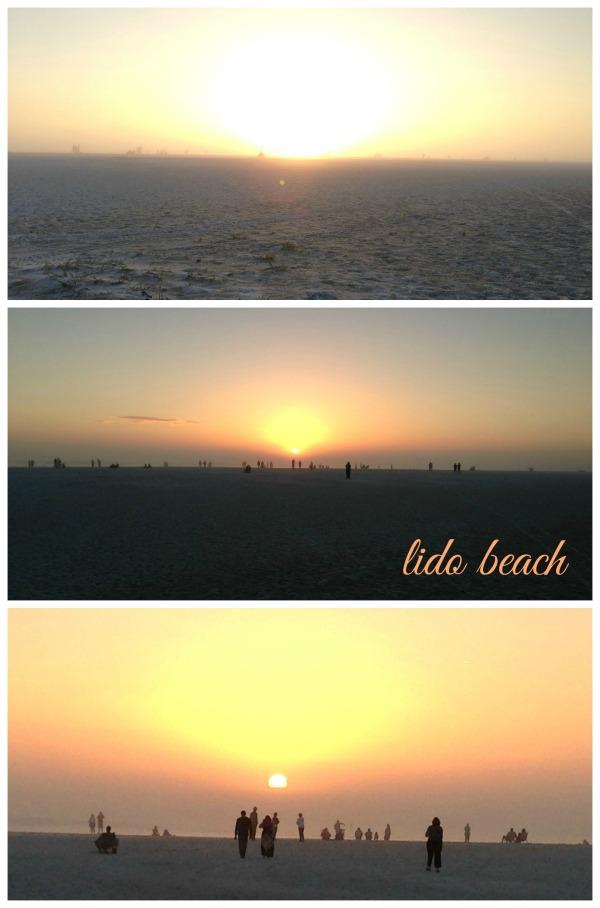 lido beach, sarasota florida, winter vacation, simply social blog, lido beach sunset