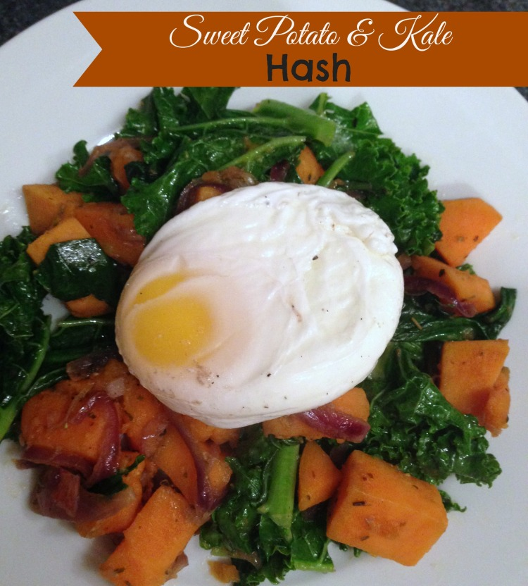 cooking light sweet potato hash with kale and poached egg, recipes, winter recipes, kale, dinner, brunch, cooking light recipes