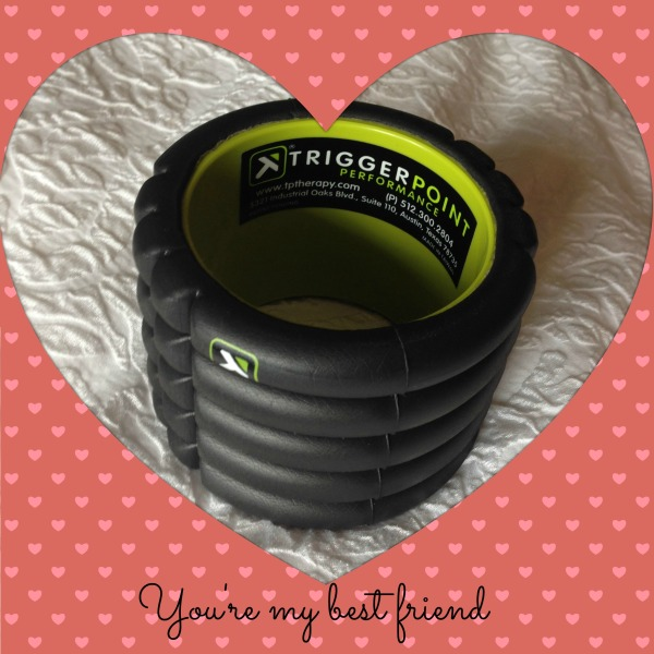 triggerpoint foam roll, travel size, workout wednesday, valentine's gift
