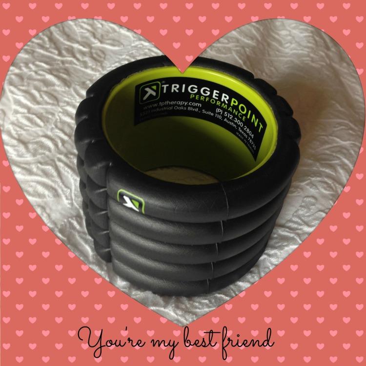 triggerpoint foam roll, travel size, workout wednesday, valentine's gift