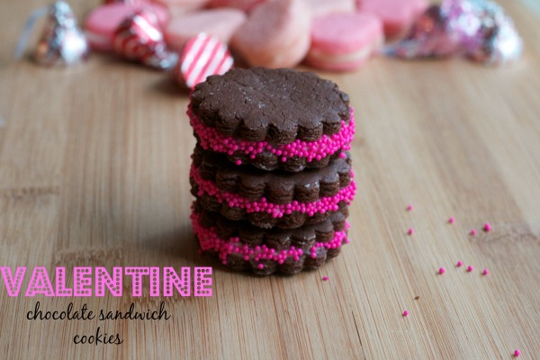 chocolate sandwich cookies, valentine sandwich cookies, valentines day, martha stewart recipes