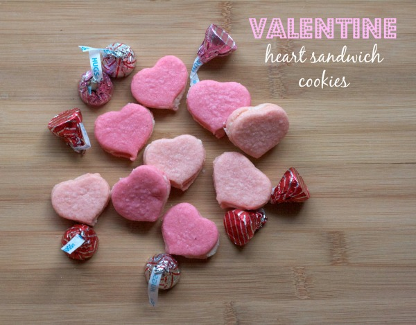 valentine heart sugar cookies, cream filled sandiwch cookies, heart shaped sandwich cookies, martha stewart recipes, heart sugar cookies, pink cookies